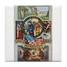 Loyalty Patriotism Service Tile Coaster