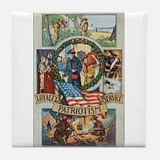 Loyalty Patriotism Service Tile Coaster