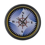Compass Large Wall Clock