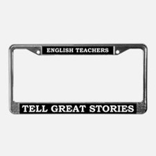 English Teachers License Plate Frame