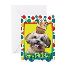 Birthday Cupcake - ShihPoo Greeting Card