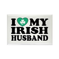 I Love My Irish Husband Rectangle Magnet