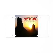 Zia Heritage Aluminum License Plate