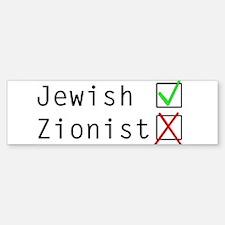 Jewish NOT Zionist Bumper Bumper Sticker