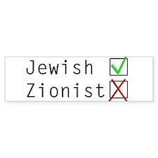Jewish NOT Zionist Bumper Sticker