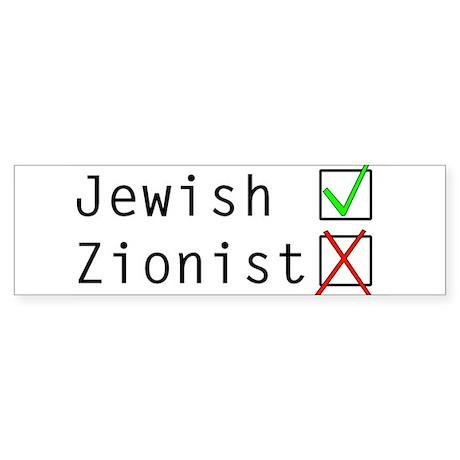 Jewish NOT Zionist Sticker (Bumper)