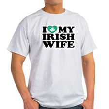 I Love My Irish Wife Ash Grey T-Shirt