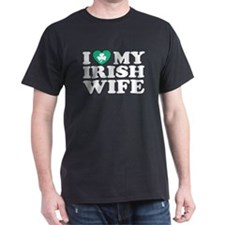 I Love My Irish Wife Black T-Shirt