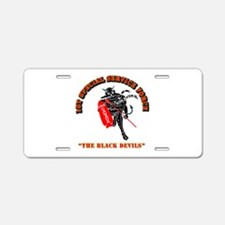 SOF - 1st SSF - Black Devils Aluminum License Plat