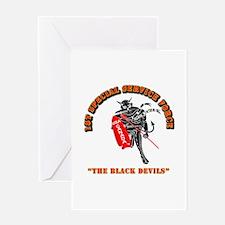 SOF - 1st SSF - Black Devils Greeting Card