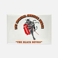 SOF - 1st SSF - Black Devils Rectangle Magnet