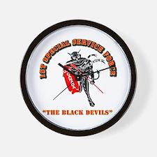 SOF - 1st SSF - Black Devils Wall Clock