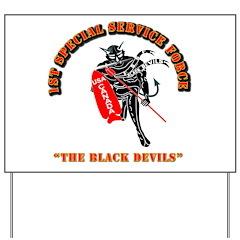 SOF - 1st SSF - Black Devils Yard Sign