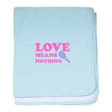love means nothing (pink/lila baby blanket