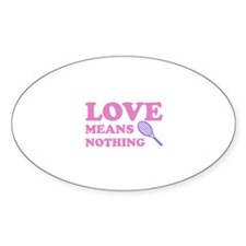 love means nothing (pink/lila Decal