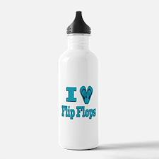 I love Flip Flops Water Bottle