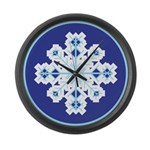 Snowflake Large Wall Clock