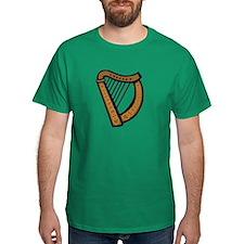 Celtic Harp Icon T-Shirt