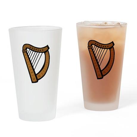 Celtic Harp Icon Pint Glass