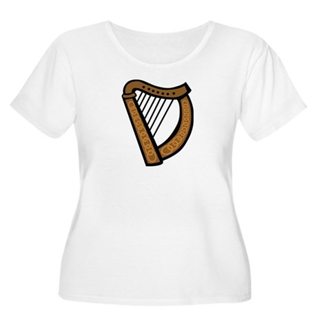 Celtic Harp Icon Women's Plus Size Scoop Neck T-Sh