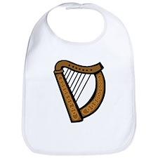 Celtic Harp Icon Bib