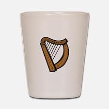 Celtic Harp Icon Shot Glass