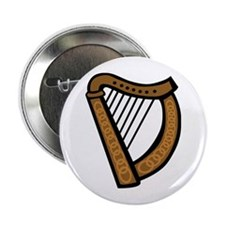 "Celtic Harp Icon 2.25"" Button"