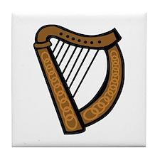 Celtic Harp Icon Tile Coaster