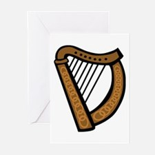Celtic Harp Icon Greeting Cards (Pk of 10)
