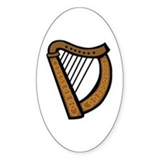 Celtic Harp Icon Decal