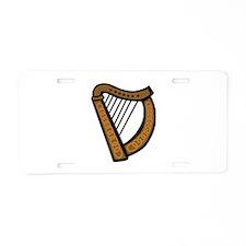 Celtic Harp Icon Aluminum License Plate
