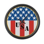 USA Large Wall Clock
