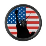 Liberty flag Large Wall Clock