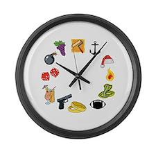 SMK Large Wall Clock