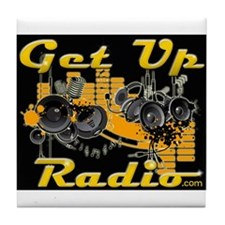 The NEW GET UP RADIO GEAR Tile Coaster