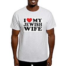 I Love My Jewish Wife Ash Grey T-Shirt