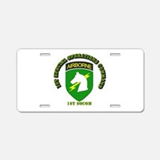 SOF - 1st SOCOM Aluminum License Plate