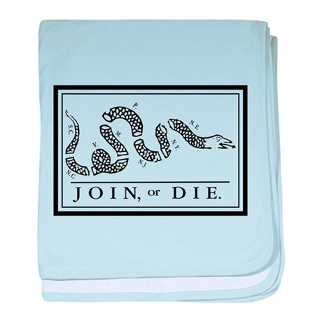 Join or Die baby blanket