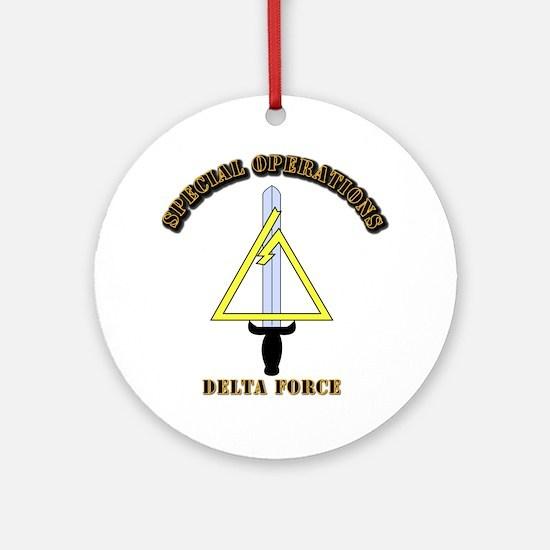 SOF - Delta Force Ornament (Round)