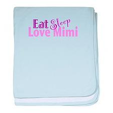 Eat Sleep Love Mimi baby blanket