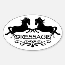 black capriole horses Oval Decal
