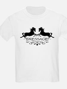 black capriole horses Kids T-Shirt