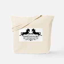 black capriole horses Tote Bag
