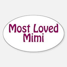 Most Loved Mimi Sticker (Oval)