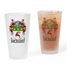 McDade Coat of Arms Drinking Glass