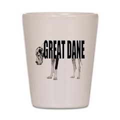 Great Dane Shot Glass