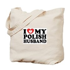 I Love My Polish Husband Tote Bag