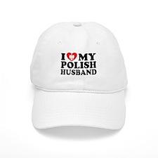 I Love My Polish Husband Baseball Cap