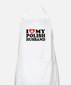 I Love My Polish Husband BBQ Apron