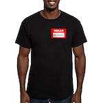 Hello I'm Money Men's Fitted T-Shirt (dark)